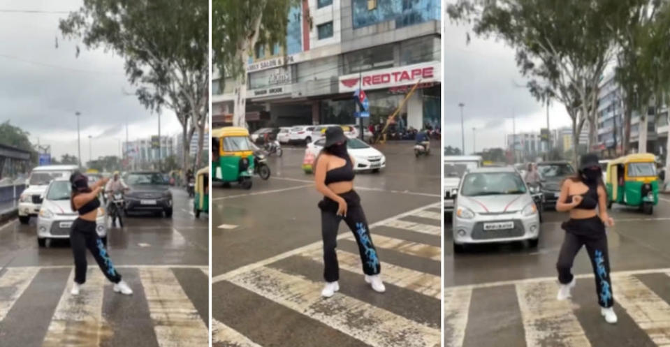 Instagram influencer in India in trouble for dancing in the middle of the road, breaching traffic regulations (VIDEO)