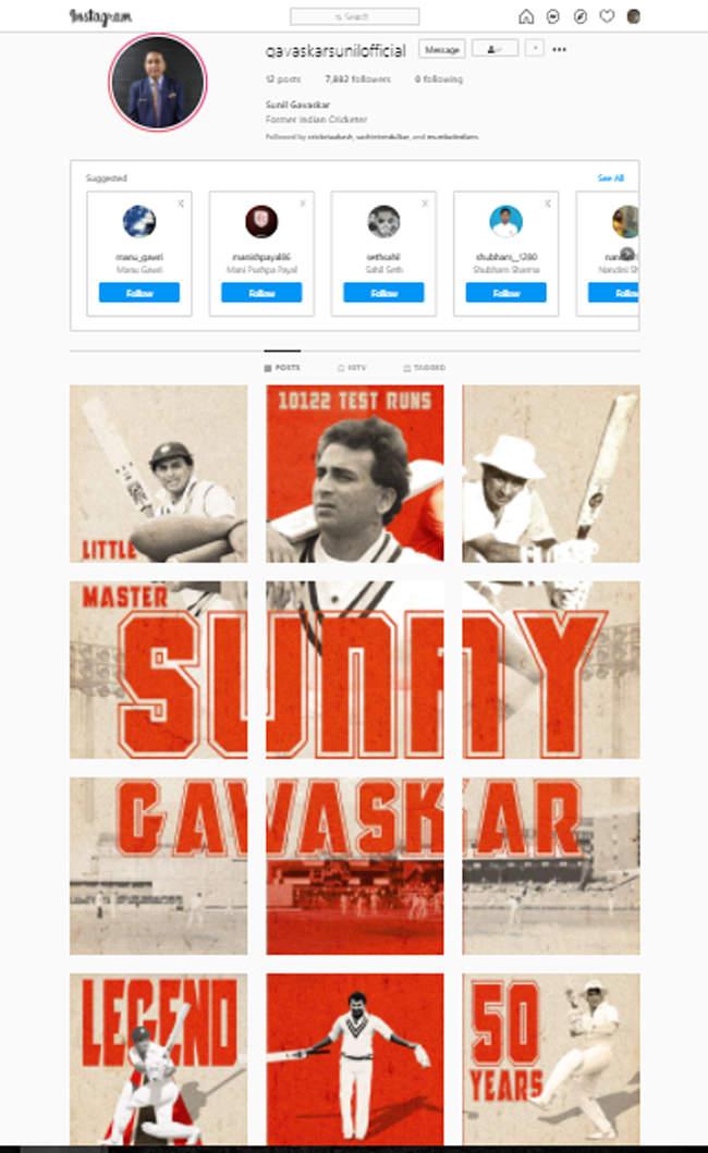 On 50th anniversary of India debut, Sunil Gavaskar joins Instagram | Cricket News