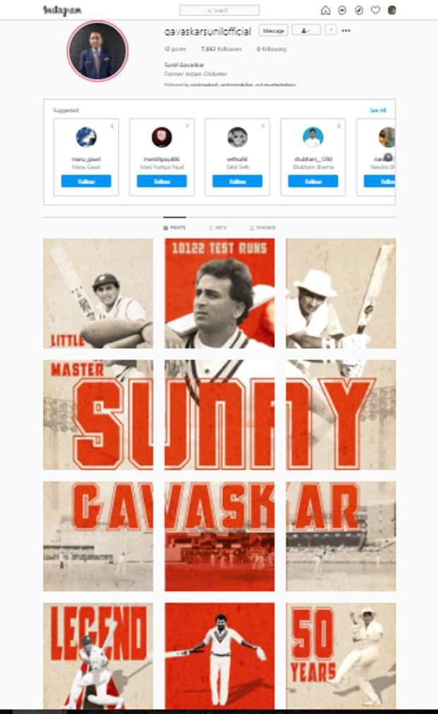 On 50th anniversary of India debut, Sunil Gavaskar joins Instagram | Cricket Information