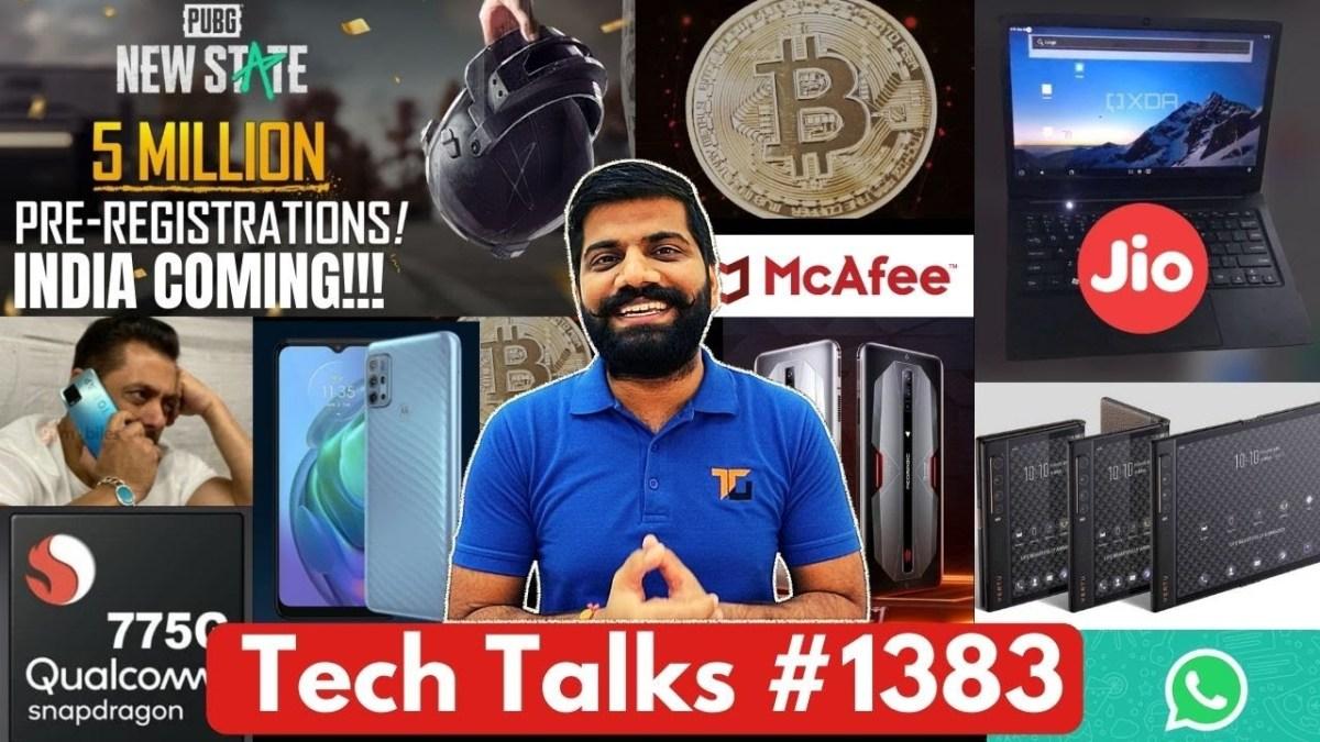 Tech Talks #1383 – Jio Cheapest Laptop, PUBG: New State India, Whatsapp SCAM India, Galaxy F02s, 775