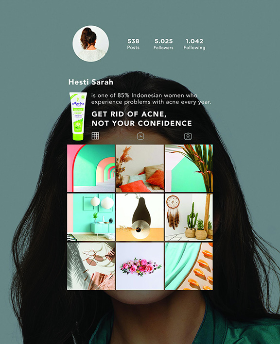 FINCH Agency Jakarta creates InstaGram inspired print campaign for cosmetic brand Marina